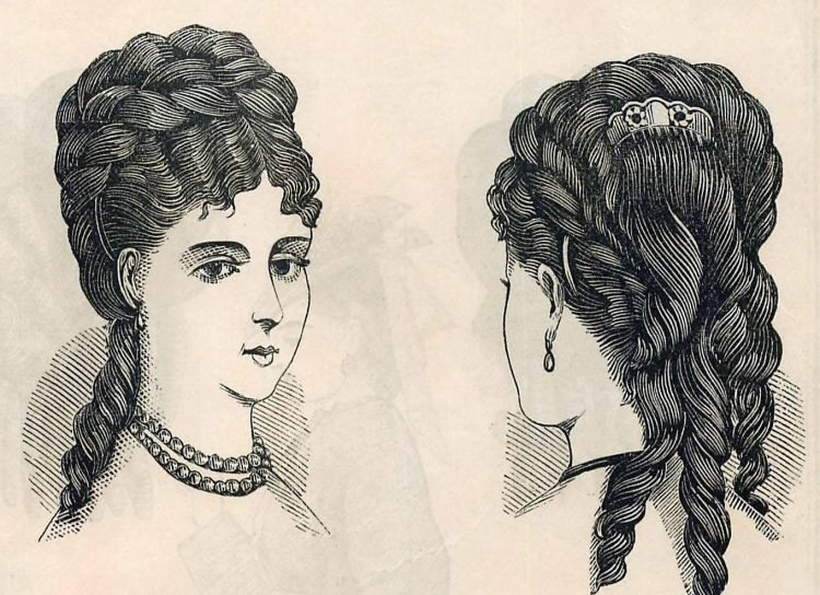 Women's antique hairstyles from 1872 (7)