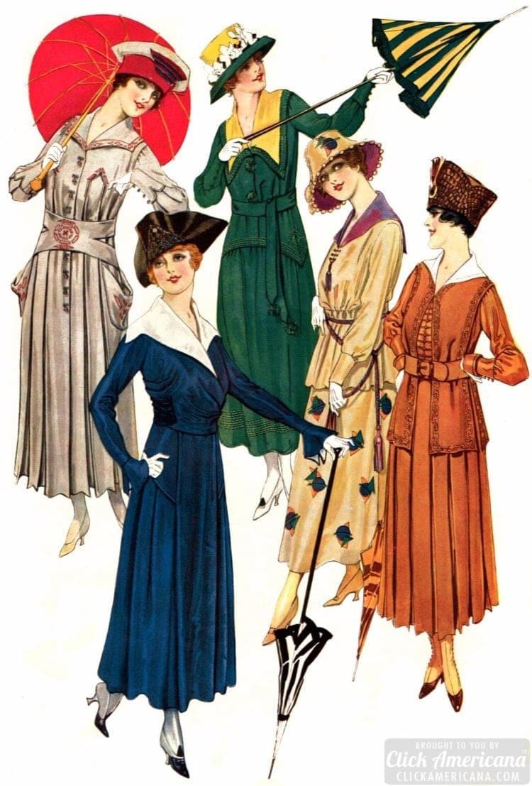 Women's hats - 1917 - Delineator