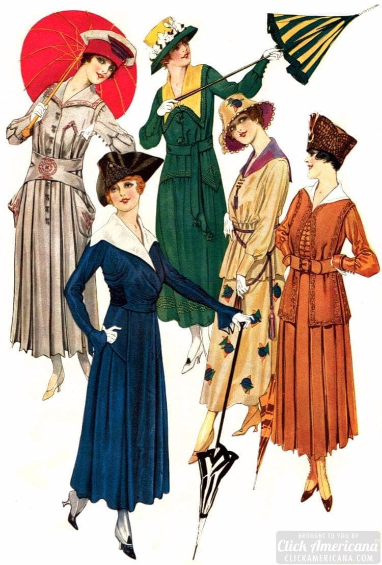 Vintage Women S Fashion The Stylish Small Hat 1915