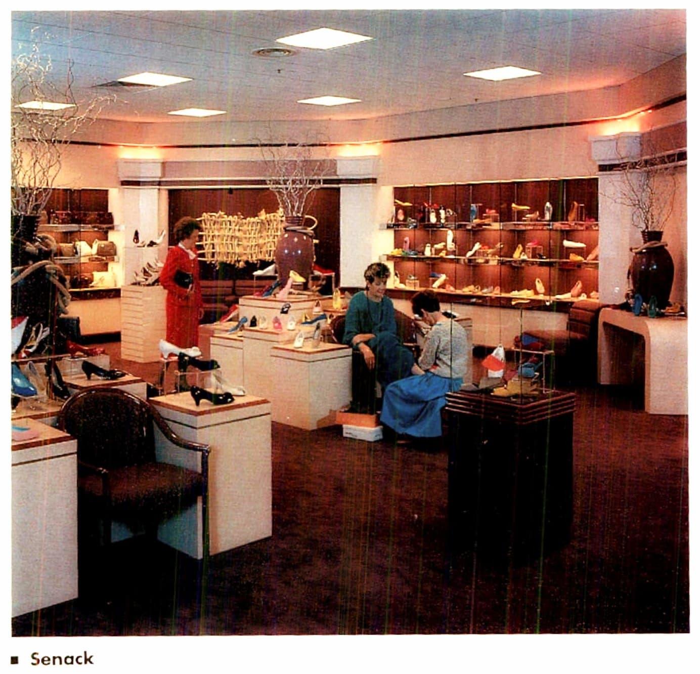 Women's shoe shopping in 1986