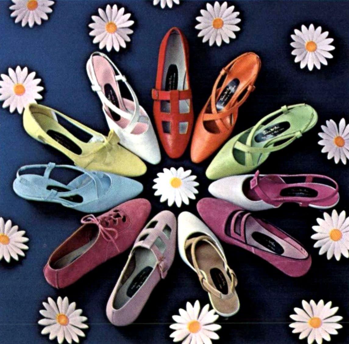 Women's shoe styles from 1966