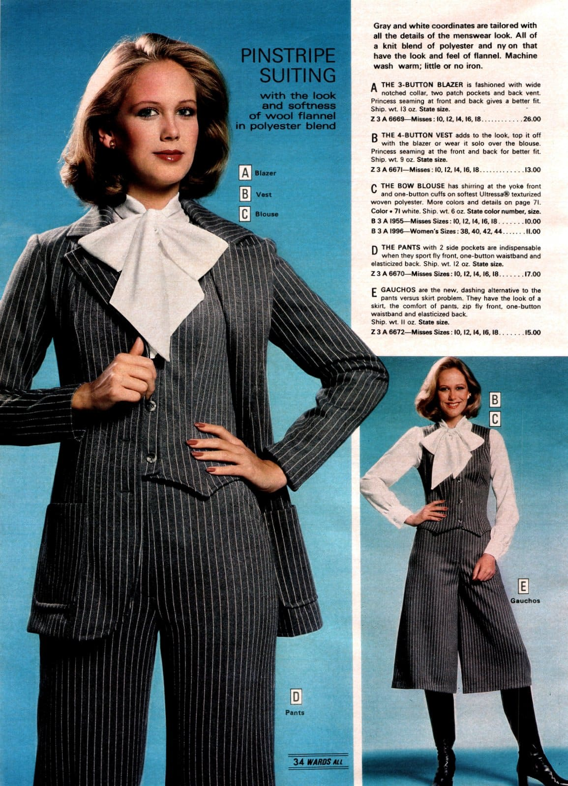 Womenswear - Vintage suits from the 1970s