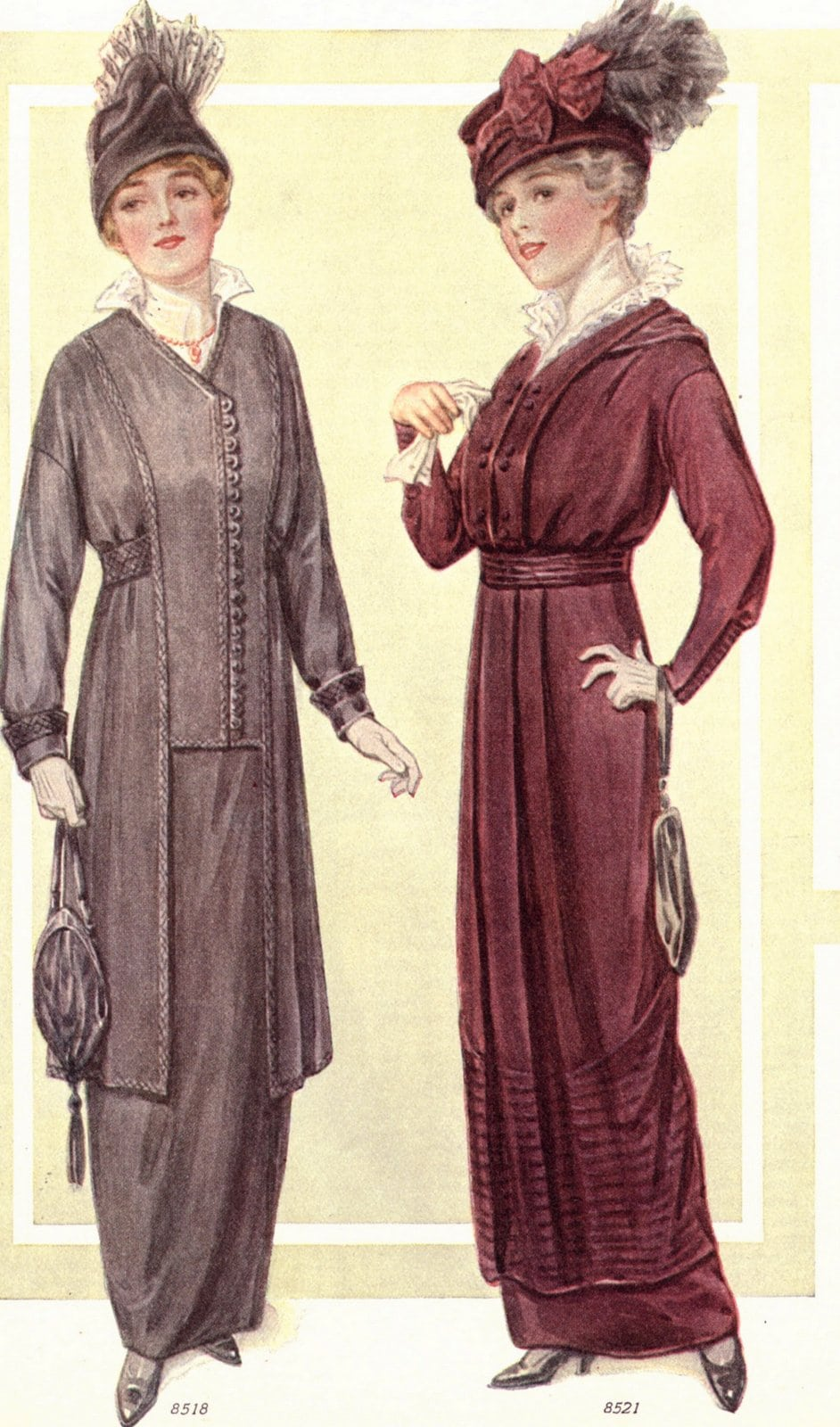 Womenswear from 1914 - Dresses and hats