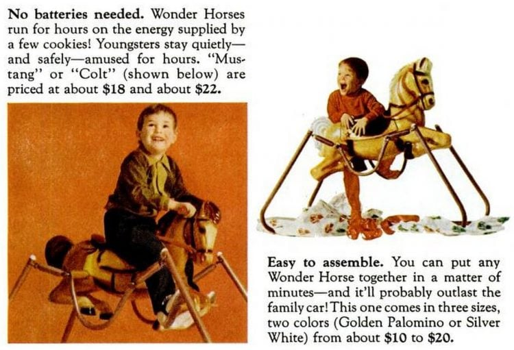 Wonder Horse toys Dec 16, 1966