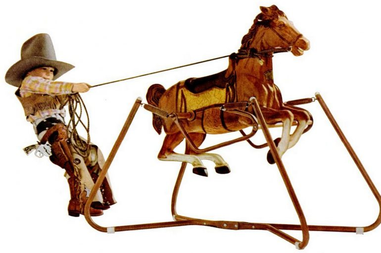Wonder horses - See vintage ride-on spring horse toys 1950s to 1980s
