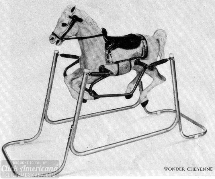 Wonder horse! Ride-on spring horse toys (1960s)