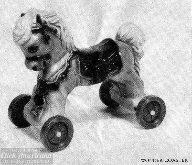 Wonder horsse! Ride-on spring horse toys (1960s)