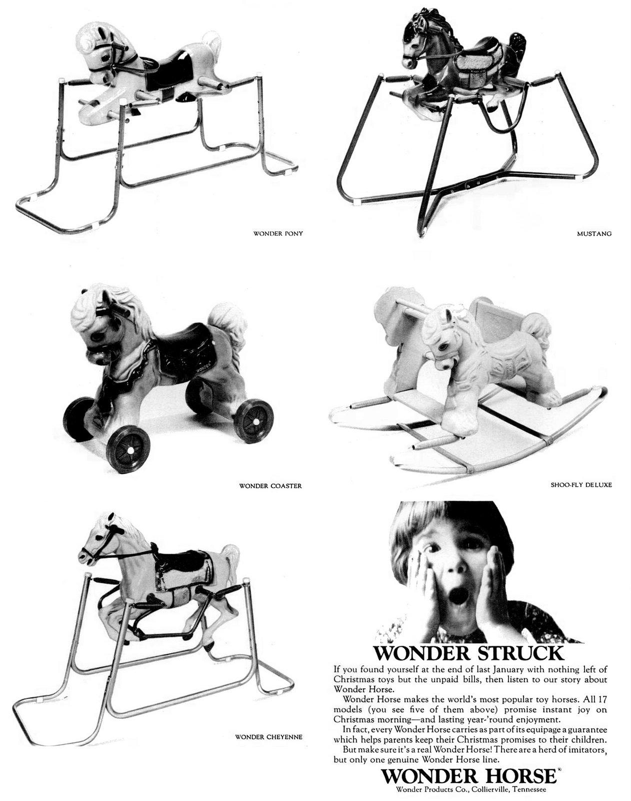 Wonder struck Vintage ride-on horse toys (1967)