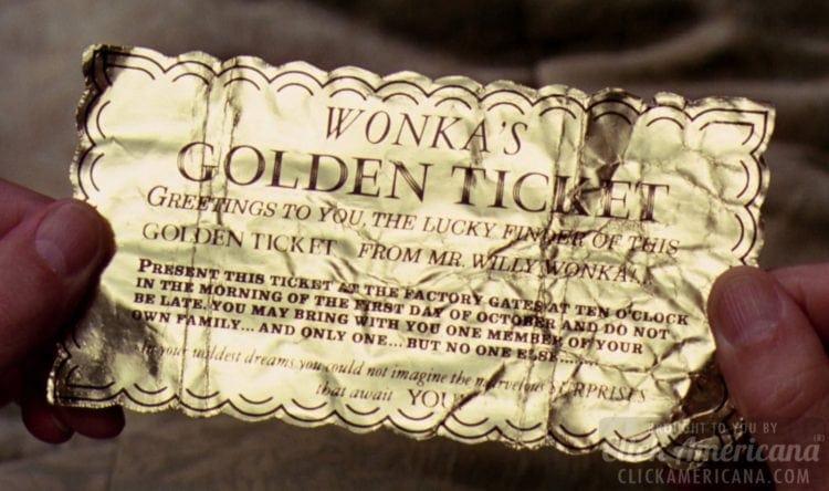 Wonka's Golden Ticket - Chocolate Factory movie
