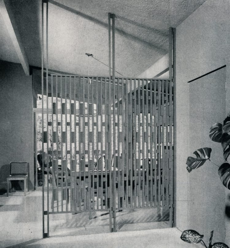Wood grille divider from 1959 vintage home