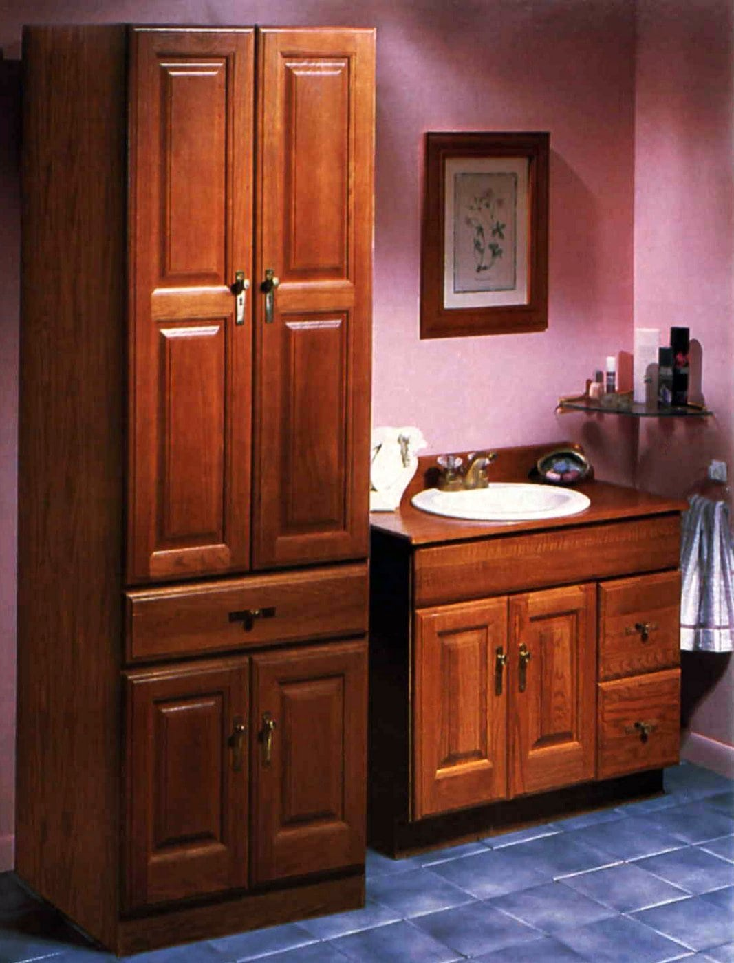 Wooden bathroom cabinets from the 80s