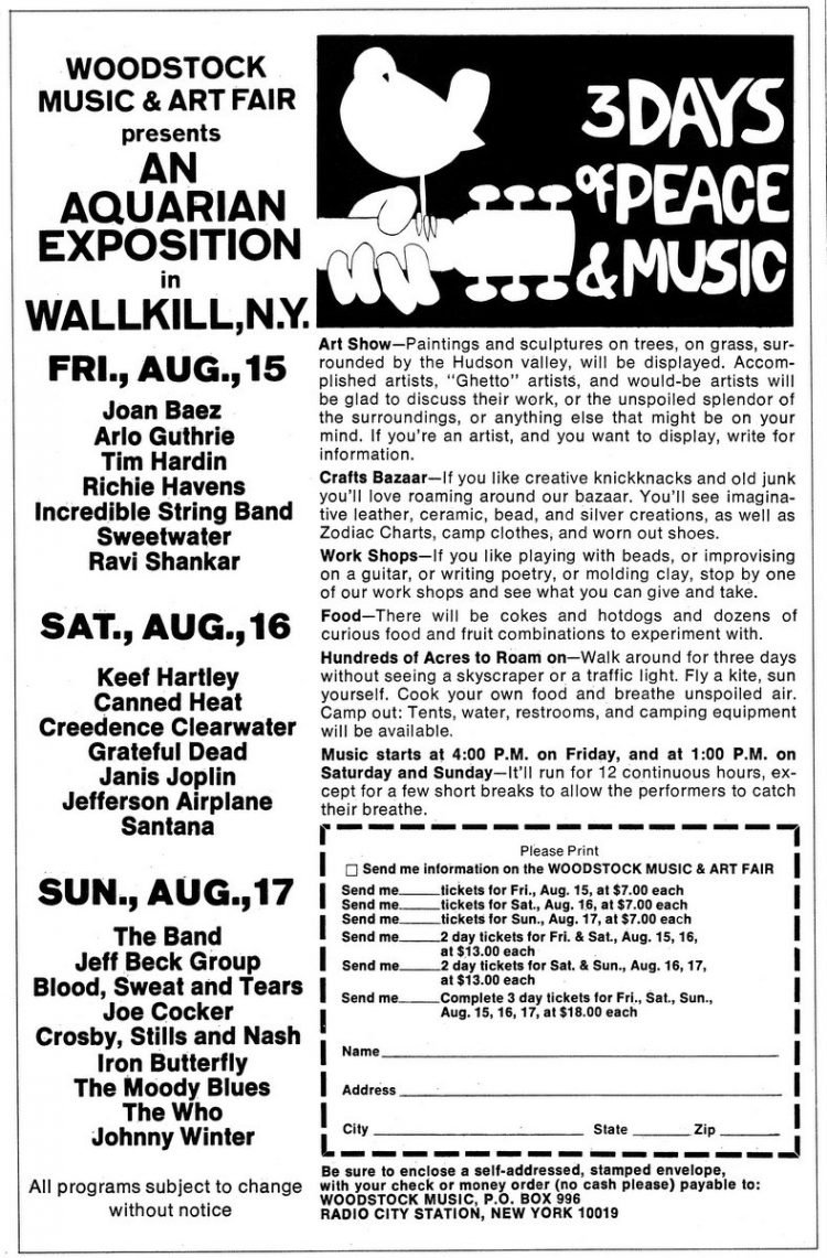 Woodstock Music and Art Fair - An Aquarian Exposition - August 1969