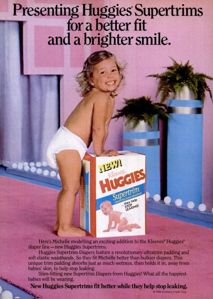 Working Mother Mar 1987 huggies diapers