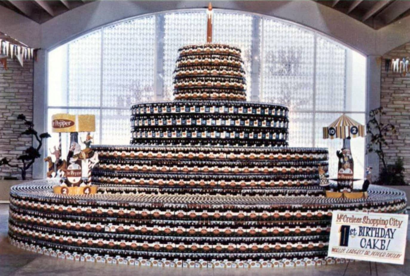 World's largest Dr Pepper in-store display in 1963