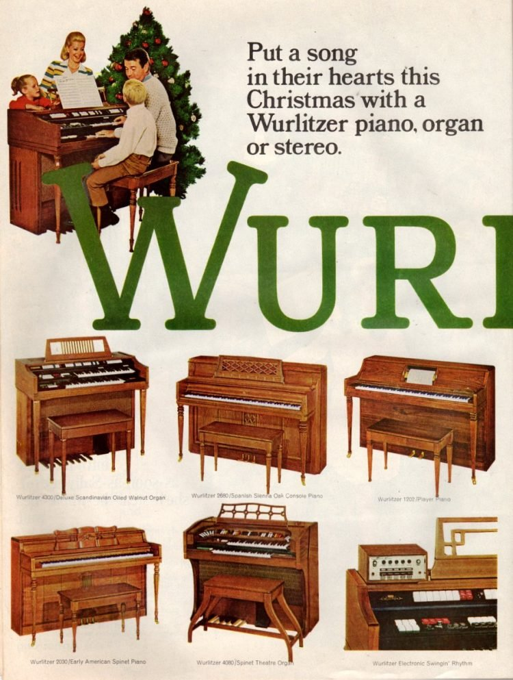 Wurlitzer piano, organ stereos from 1968 (1)