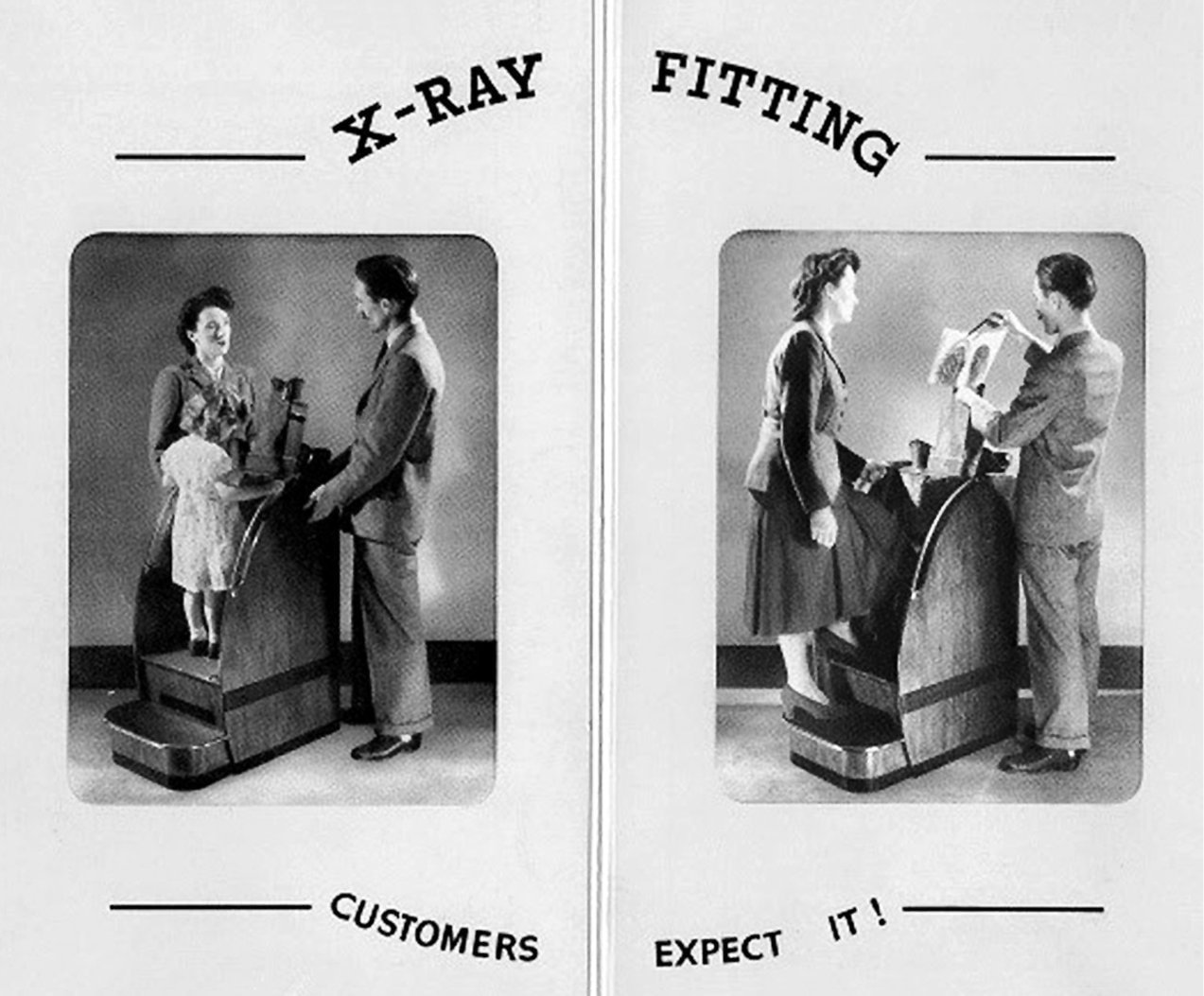 X-ray shoe fitting demonstration (c1930s)