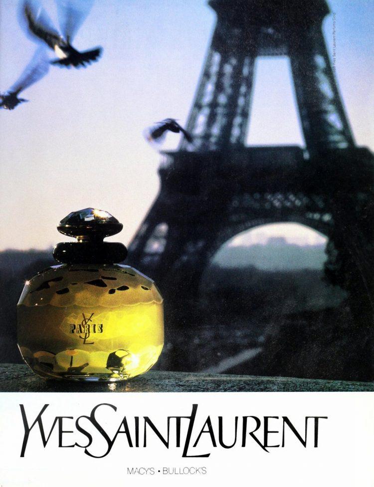 YSL Paris perfume 1989