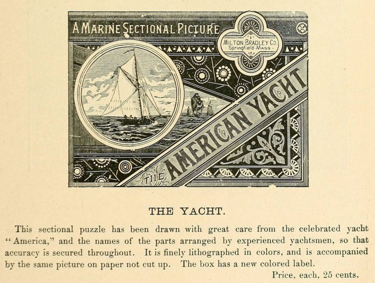 Yacht puzzle from 1903