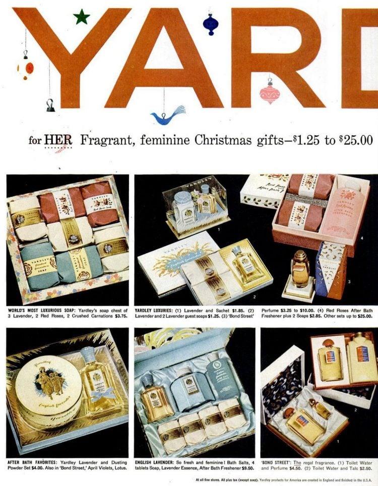 Yardley gift sets - 1956
