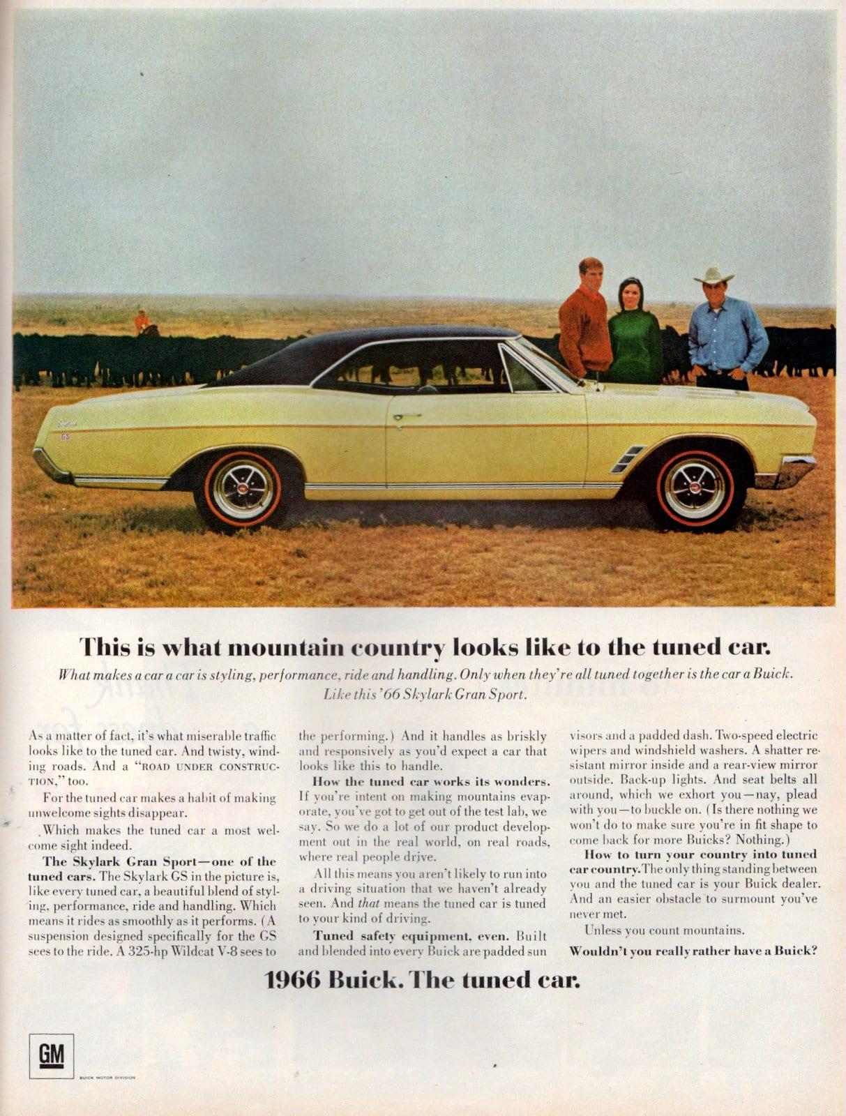 Yellow 1966 Buick Skylark