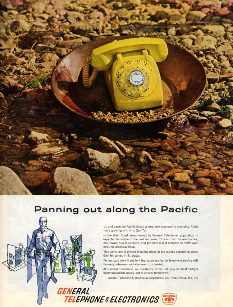 Yellow gold phone from 1960