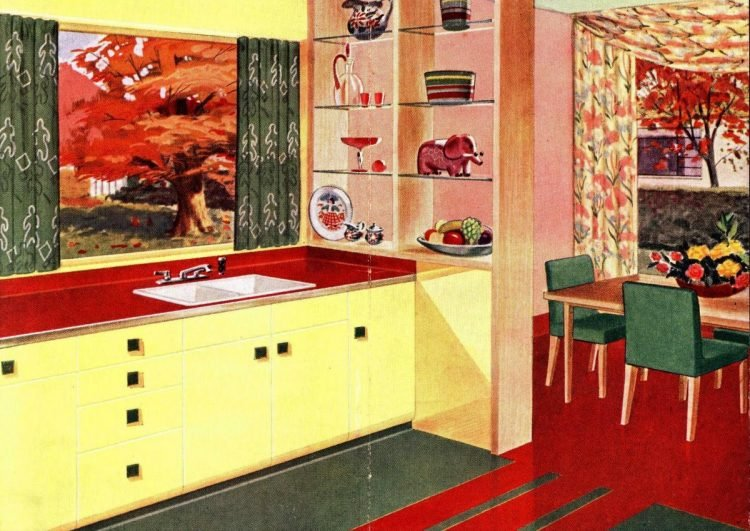 Yellow kitchen 1950