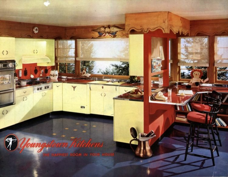 Retro yellow kitchens - 1951
