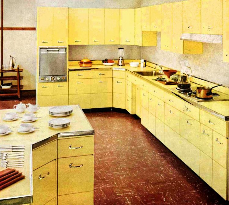 Yellow kitchen Capitol 1955