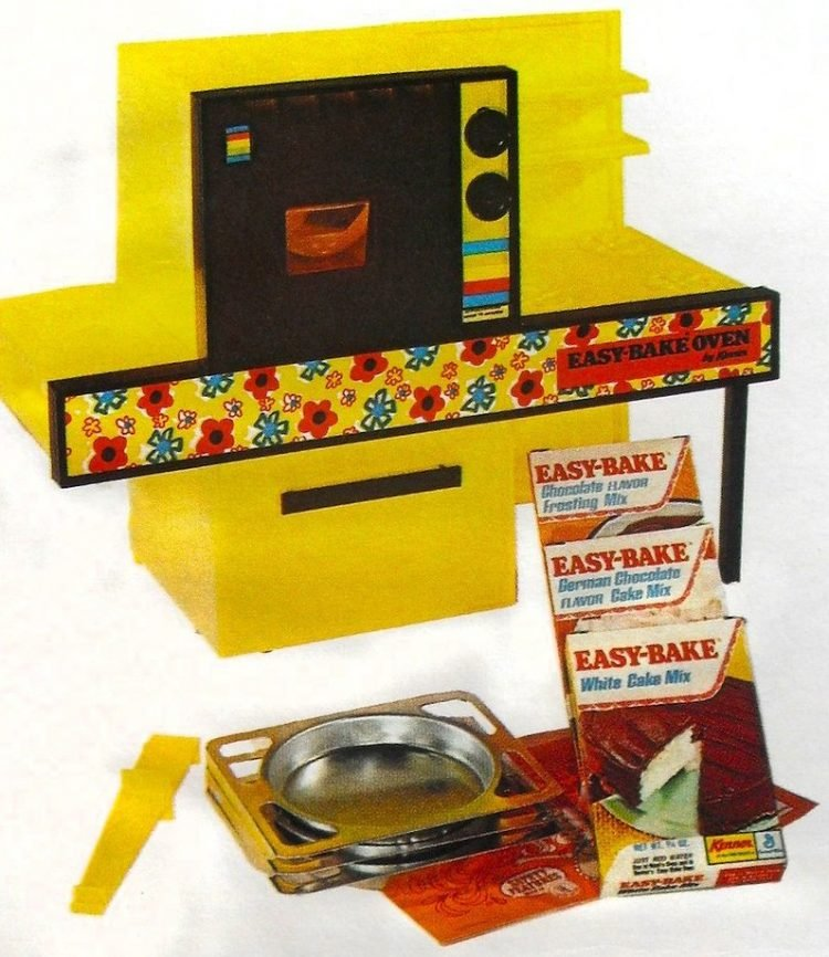 Yellow vintage 70s Easy Bake Oven toy