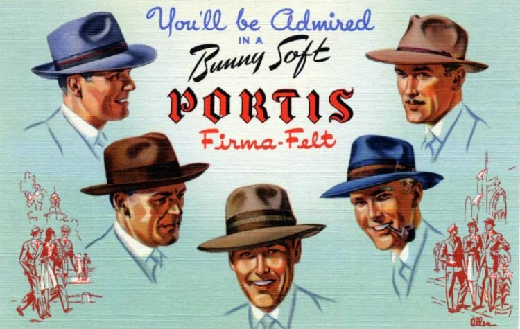 You'll be admired in a bunny soft Portis firma-felt - 1942