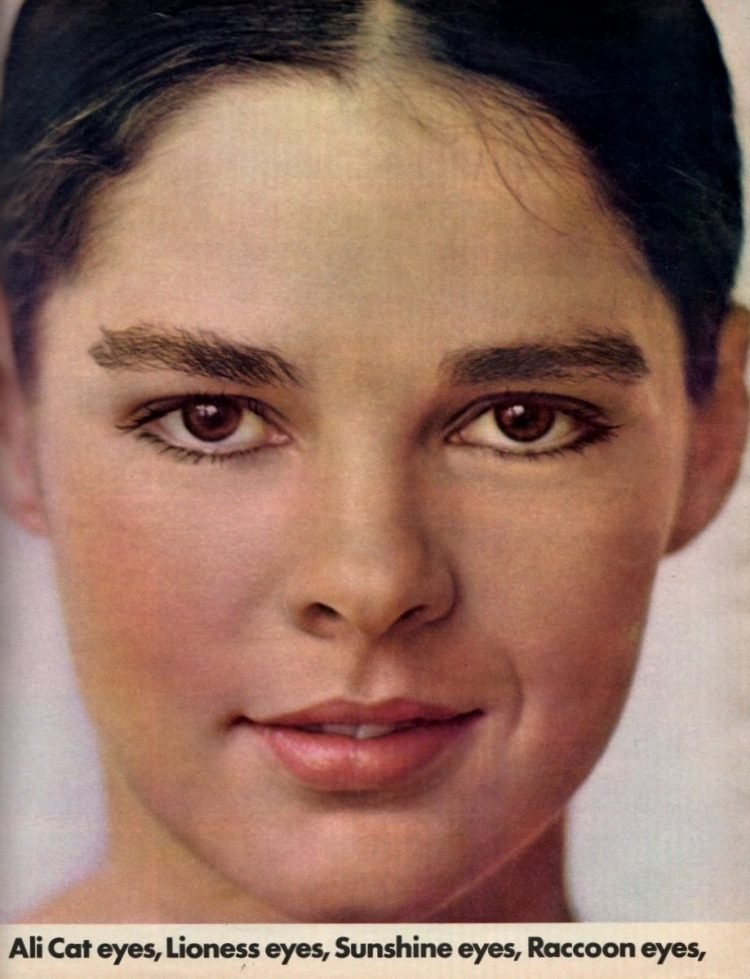 Young Ali MacGraw as a model in 1970