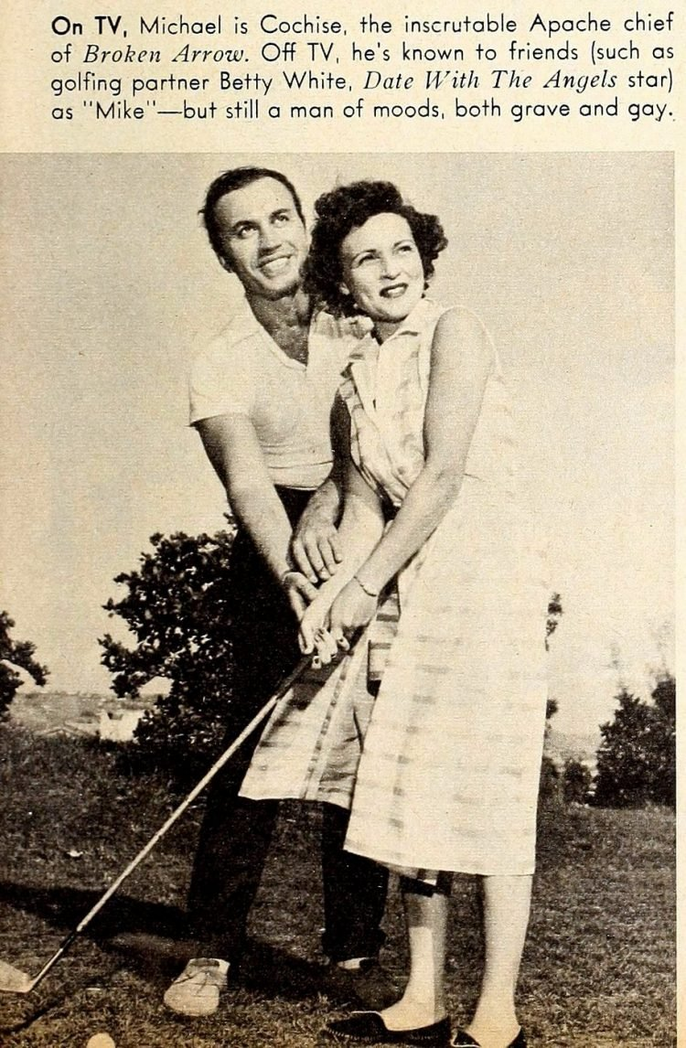 Young Betty White with Michael Ansara