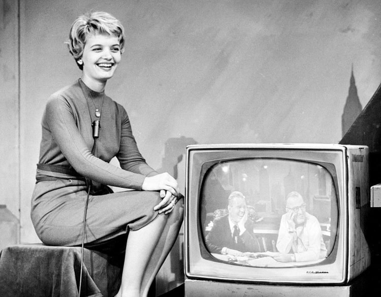 Young Florence Henderson on the Today show - 1960s