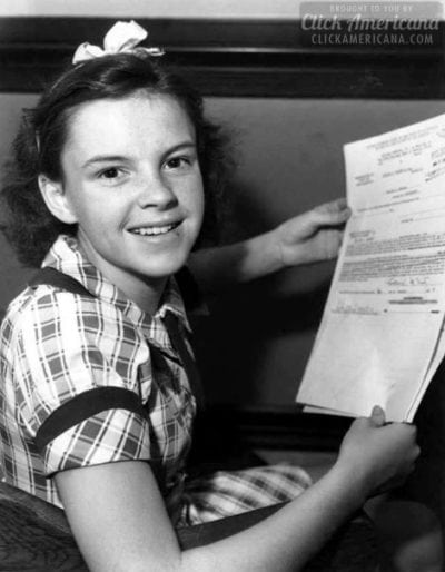 Young Judy Garland - first contract