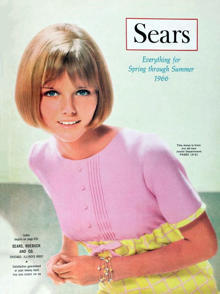 Young model Cheryl Tiegs on the Sears Catalog cover 196