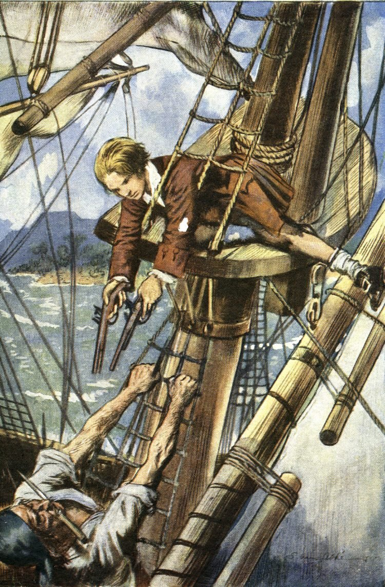 Pirate Code - Young pirate with pistols