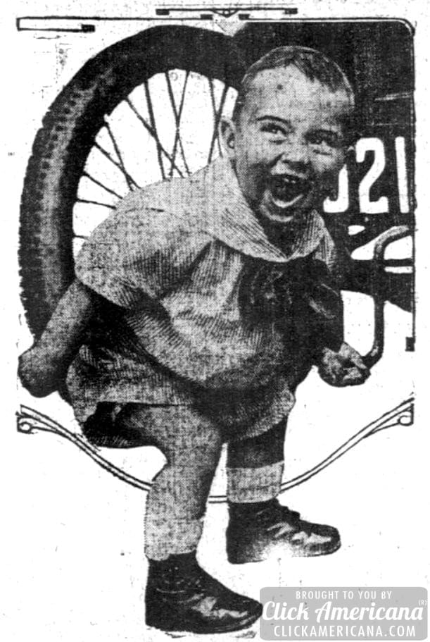 Youngest automobile globe-trotter (1914)