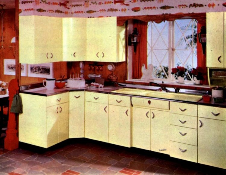 Youngstown Kitchens 1951 pink yellow