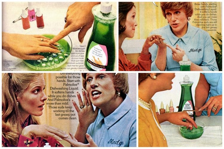 You're soaking in it! Vintage Palmolive ads featuring Madge the Manicurist