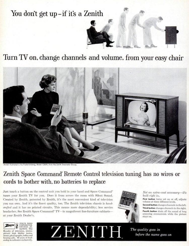 Zenith Space Command TV remote - Feb 16, 1959