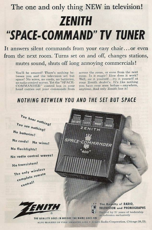 Zenith Space Commander remote control (1956)