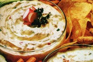 Zesty horseradish dip Vintage recipe from 1972