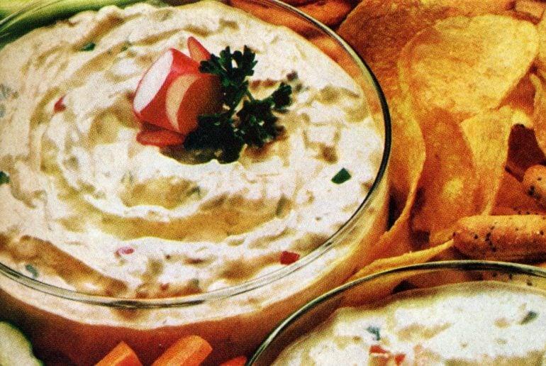 Zesty horseradish dip Vintage recipe from 1972