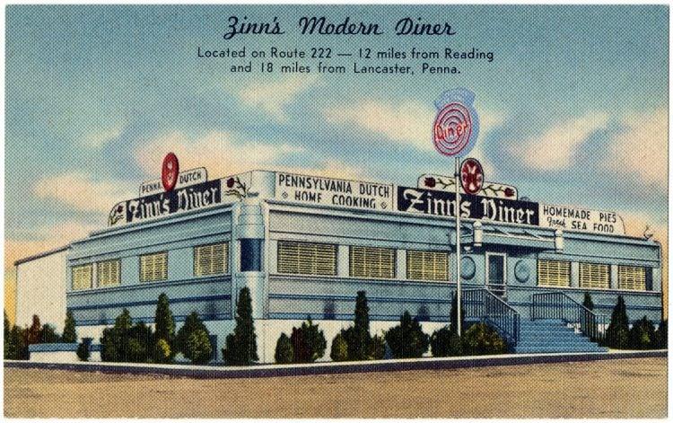 Zinn's modern diner in PA