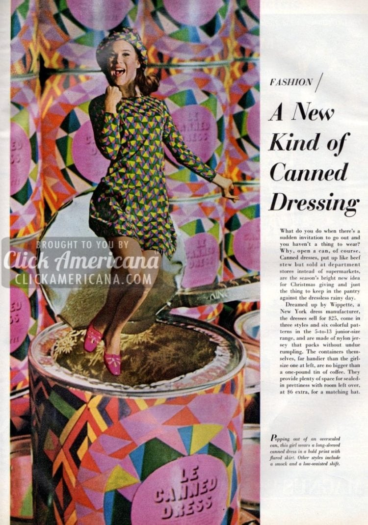 Get a brand new dress straight from a can! (1966)