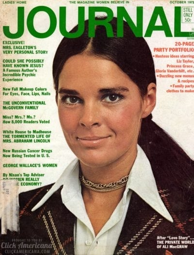 ali macgraw love story fashion