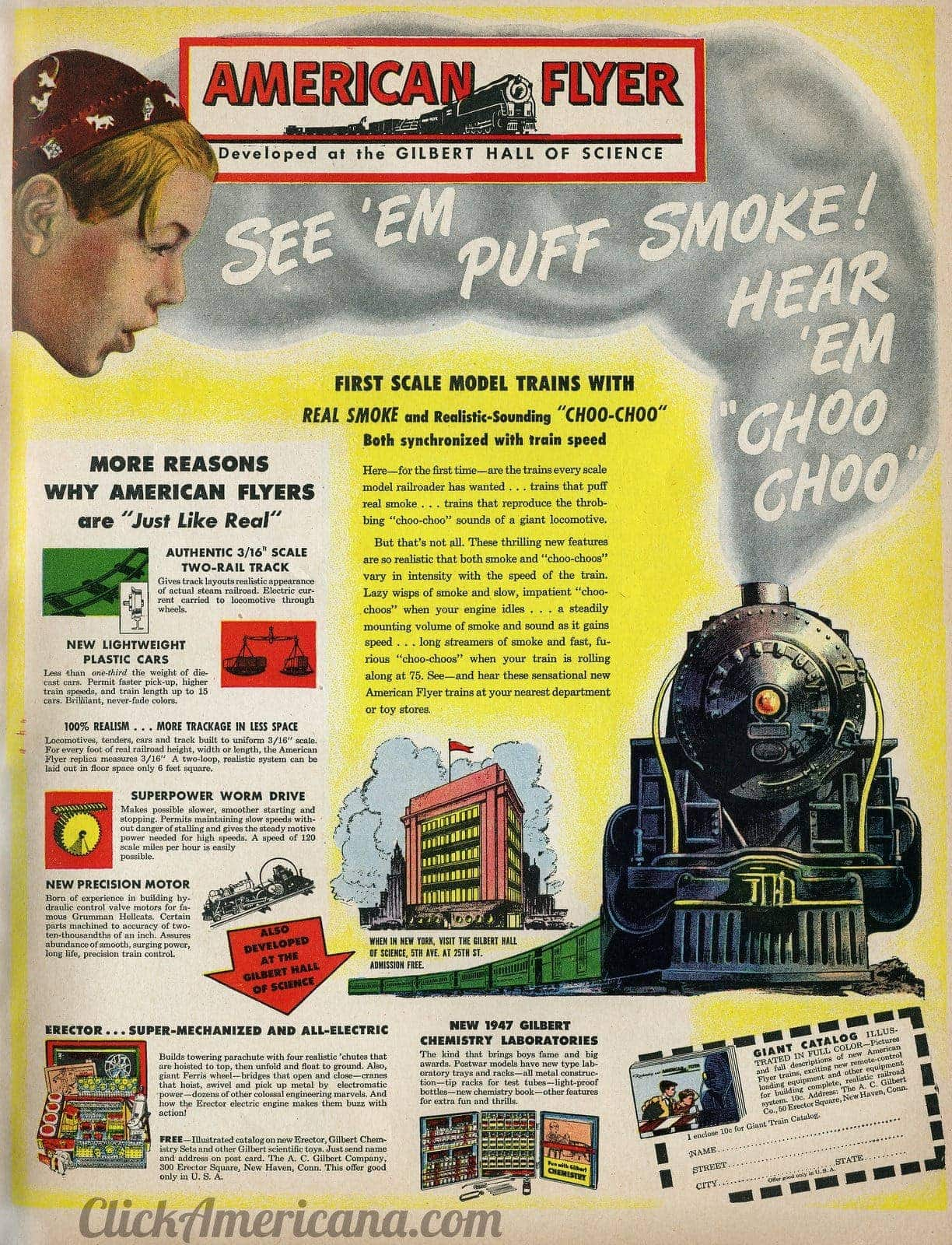 American Flyer Model Trains With Smoke 1946 Click