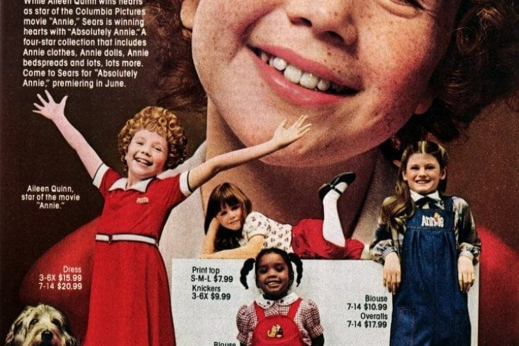 Absolutely Annie: Movie-inspired fun at Sears (1982) - Click Americana