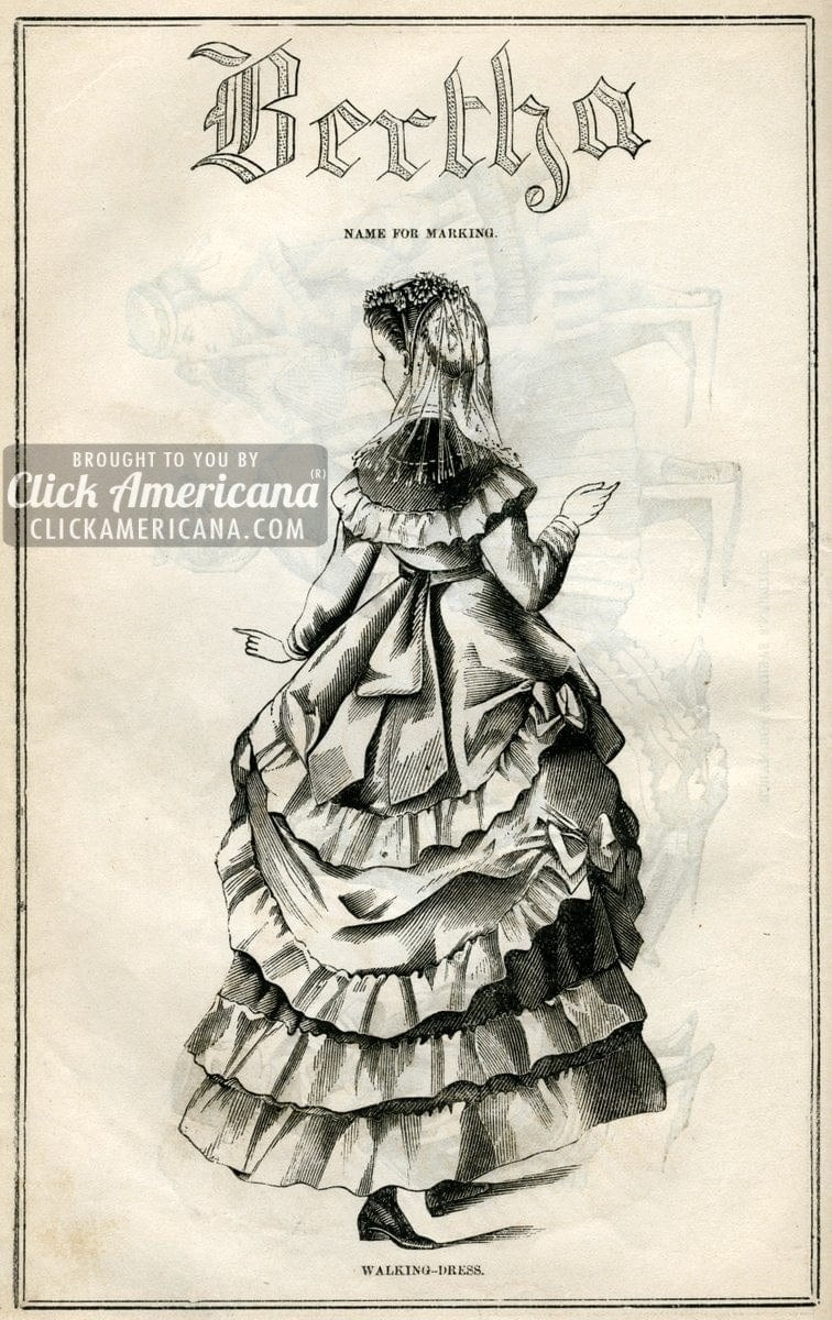 Charlotte, Constance, Cecile & Bertha: Fashions from 1869