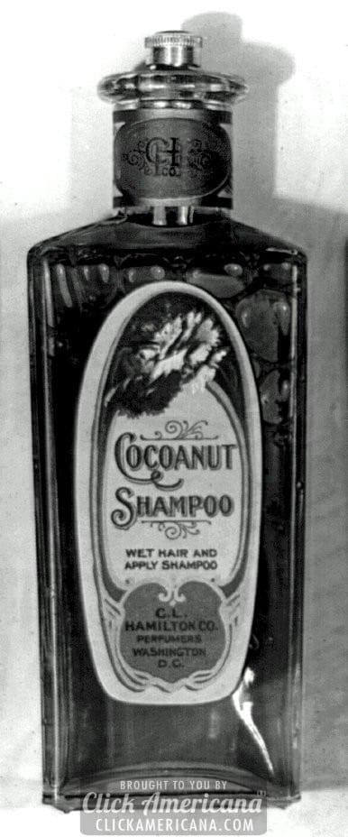 Antique glass shampoo, lotion & astringent bottles (1910s-1920s)